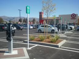 electric vehicles charging stations how to do electric car chargers right new target store in ca