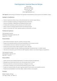 application support resume examples field application scientist resume sample resume samples