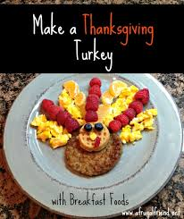 make a thanksgiving turkey with breakfast foods goldrichyolk