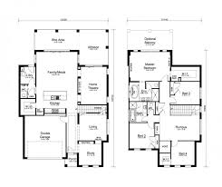 2 storey house floor plan with perspective modern two designs home