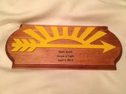 arrow of light award images scout aol award 2 pine plaque