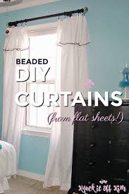 beaded diy curtains from flat bed sheets knock it off kim