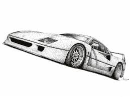 car ferrari drawing ferrari f40 by medvezh on deviantart