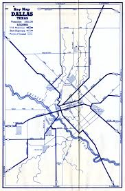 Dallas Map by Old Highway Maps Of Texas