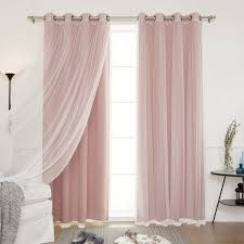 Dusty Curtains Best Home Fashion Mix Match Tulle Sheer Lace