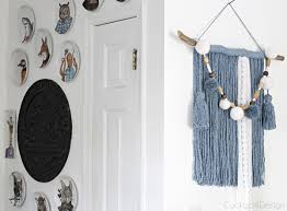 mop head yarn wall hanging cuckoo4design
