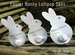 easter bunny lollipop tails bunny tails free printable