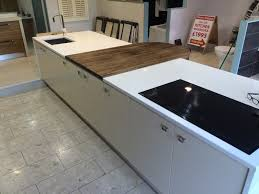 ex display kitchen islands kitchen island with built in sink grievesons auctioneers