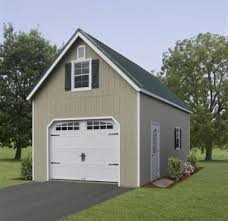 Two Story Workshop 2 Story Single Car Garage Amish Garages Built On Site Garage