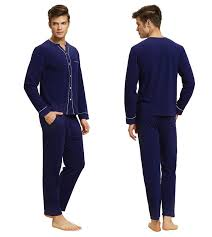 modal cotton pajama set for fashion button casual home wear