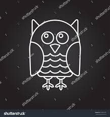 owl halloween background vector white outline owl icon on stock vector 329302790 shutterstock