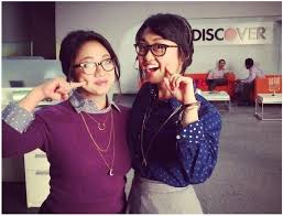 capital one commercial actress musical chairs stephanie hsu and alice lee for discover card idol features