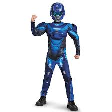 halo blue spartan classic muscle child costume buycostumes com