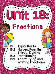 miss giraffe u0027s class fractions in first grade