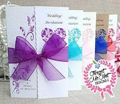 Wedding Invitations Purple Purple Wedding Invitations Amazon Co Uk