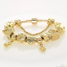 family bracelets aliexpress buy gold color metal charm bracelets original