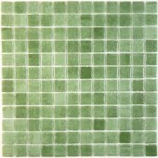 100 recycled 1 u0027 u0027 x 1 u0027 u0027 green glass square tile matte lag026