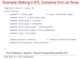 Typedef Template cse 332 c stl containers review c standard template library