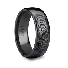black wedding band engraved tungsten wedding bands personalized rings larson jewelers