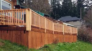 yelm deck railing installation ajb landscaping u0026 fence