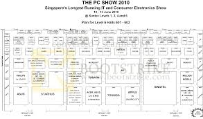 pc show 2010 suntec 6th level floor plan map exhibitors brands pc