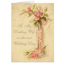 To My Wife On Our Wedding Day Card My Darling Wife Gifts On Zazzle