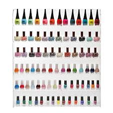 102 bottles 6 shelf pro acrylic nail polish rack salon wall