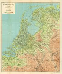 Map Of Holland Netherlands 1944 Map Wwii Netherlands Escape Lines