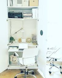 Small Desk Ls Small Space Solution Ikea Pax Wardrobe Outfitted As Desk