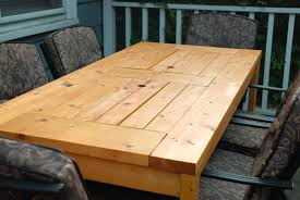Free Wooden Outdoor Table Plans by Ana White Patio Table With Built In Beer Wine Coolers Diy Projects
