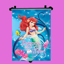 disney ariel car window roller blind sun shade children kids baby