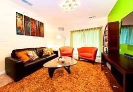 accessories entrancing trendy decorating living room orange wall