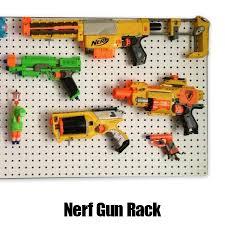Nerf Gun Rack backing board – White Faced Perforated Hardboard