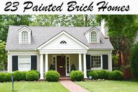 painting exterior brick things that inspire painted brick houses