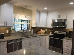 Kitchen Shaker Cabinets by The Holland Kitchen After White Shaker Cabinets With Brushed