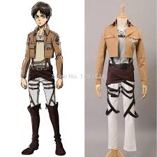 shingeki no kyojin attack on titan eren jager cosplay costume