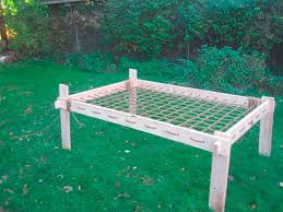 i made my own bed frame using only wood an no nails or