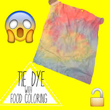 diy tie dye shirt with food coloring testing hack or whack