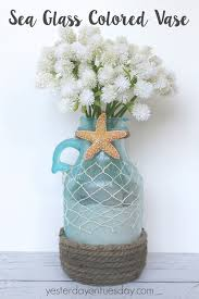 Glass Vase Decoration Ideas From Plain Glass Jug To Sea Glass Vase Yesterday On Tuesday