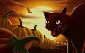 free cat halloween background pic free screensavers and wallpapers 7screensavers com