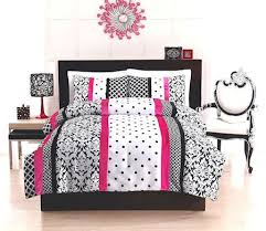great elegant teen woman black white u0026 scorching pink bedding twin