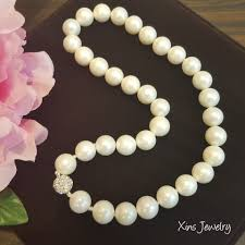 white shell pearl necklace images White shell pearl necklace xins jewelry jpg