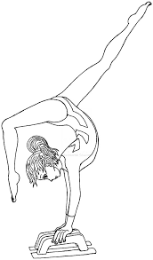 gymnastics coloring pages coloring pages kids