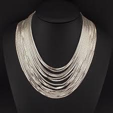 accessories chain necklace images Uken women multi layers chains necklaces fashion accessories jpg