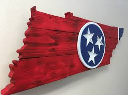 Tennesse Flag Rustic