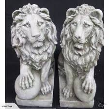 statue lions garden statue lions with left right set of 2 trade me