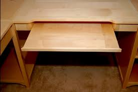 Computer Desk Tray Install Wood Computer Desk With Keyboard Tray Home Design Ideas