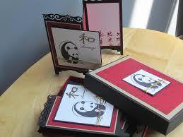 panda screen card boxed set set of 5 handmade screen cards by