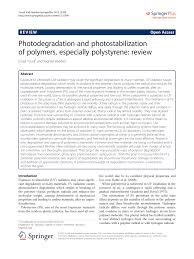 photodegradation and photostabilization of polymers especially