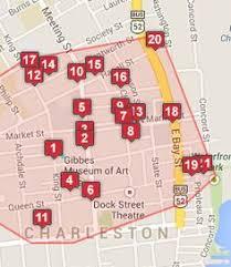 charleston trolley map printable map of charleston s historic downtown peninsula